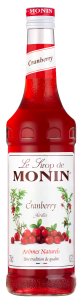 MONIN Cranberry syrup