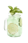 Melon basil sparkling cloudy lemonade
