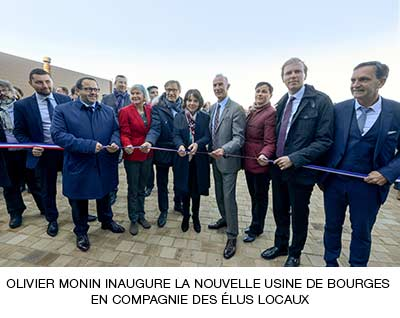 inauguration bourges usine de production sirop MONIN