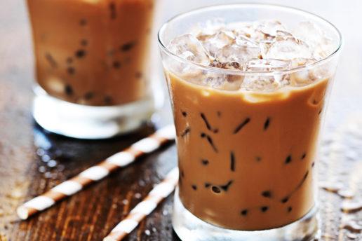 Café helado de un modo simple