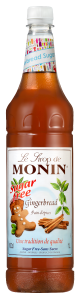 MONIN Gingerbread Sugar Free 1L PET syrup